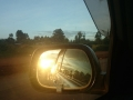 Sunset in my rearview mirror